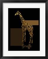 Framed 1 Gold Giraffe