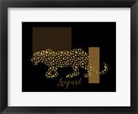 Framed 2 Golden Leopard