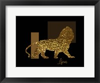 Framed 3 Golden Lion