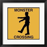 Framed Monster Crossing