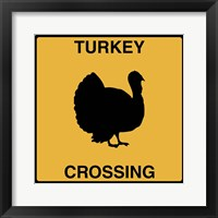 Framed Turkey Crossing