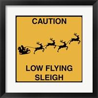 Framed Low Flying Sleigh