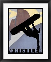 Framed Whistler Mountain Winter Sports I