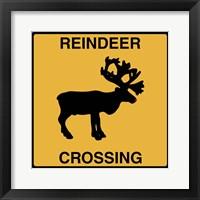 Framed Reindeer Crossing