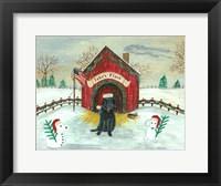 Framed Christmas Labrador