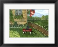 Framed My Lil Red Wagon