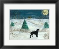 Framed Winter Labrador
