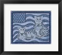 Framed Patriotic Cats