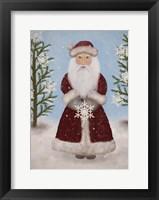 Framed Snowflake Santa