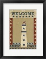 Framed Americana Lighthouse