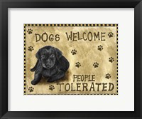 Framed Dogs Welcome