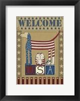Framed USA Welcome