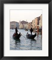 Framed Venetian Gondoliers