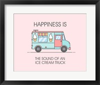 Framed Ice Cream Truck Blue
