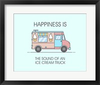 Framed Ice Cream Truck Pink