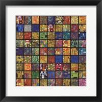 Framed Klimt Squares