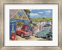 Framed Village Garage
