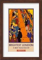 Framed London Underground Brightest London