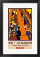 Framed London Underground Brightest London
