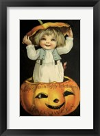 Framed Halloween Pumpkin Head Child