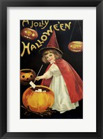 Framed Little Red Halloween Witch