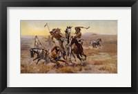 Framed Charles Marion Russell - Souix Blackfeet