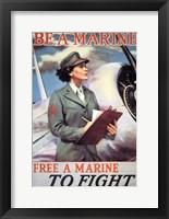 Framed Woman Marines