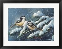 Framed December Chickadees