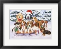 Framed Sled Dogs