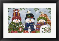Framed Snowman Trio