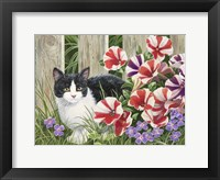 Framed Minnie In the Petunias