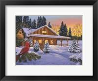 Framed Cozy Cabin
