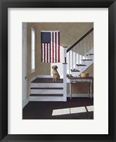 Framed Dog On Stairs
