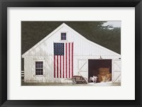 Framed Barn With Piglet