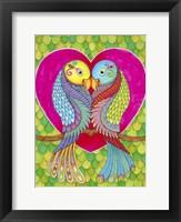 Framed Lovebirds in Colour