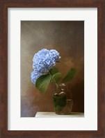 Framed Blue Hydrangea In A Vase