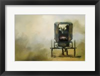 Framed Amish Wagon