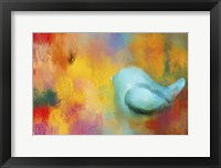Framed Abstract Bluebird of Happiness