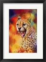 Framed Colorful Expressions Cheetah 2