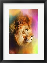 Framed Colorful Expressions Lion