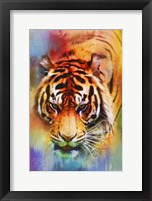 Framed Colorful Expressions Tiger