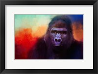 Framed Colorful Expressions Gorilla