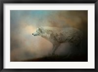 Framed Journey Of The Timber Wolf