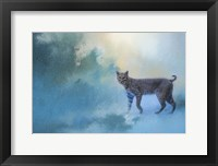 Framed Winter Bobcat