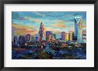 Framed Queen City Charlotte North Carolina