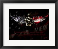 Framed American Soldier