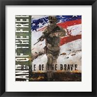 Framed Home of the Brave