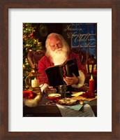 Framed Santa