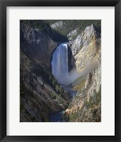 Framed Lower Falls Yellowstone