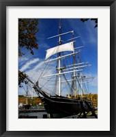 Framed Tall Ship